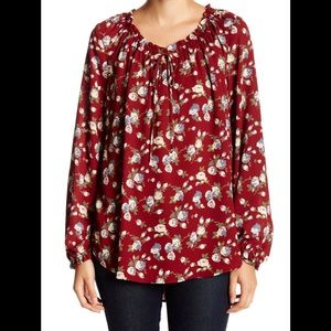 Pleione by Anthropologie Peasant Blouse Tunic XS